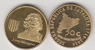 CATALONIA CATALUNYA CATALUÑA 1c 2014 1714-2014 fantasy coinage