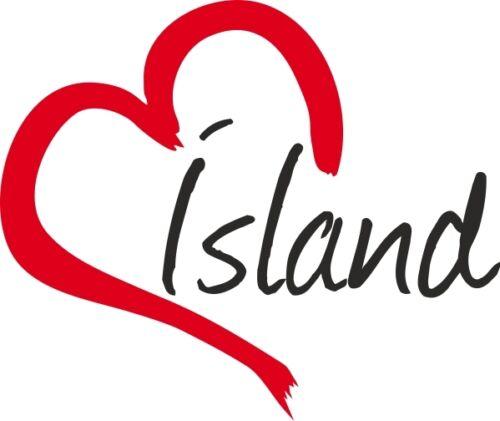 """Voiture autocollant /""""Island/"""" sticker Island environ 9x11cm contour découpé"""