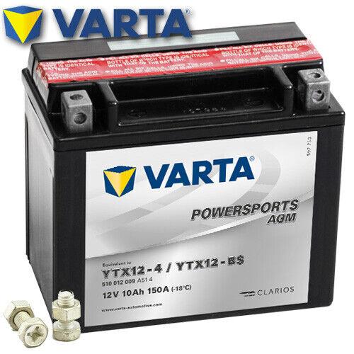 2011 Varta ytx12-bs AGM Batterie aprilia rsv1000 TUONO R Rr Bj