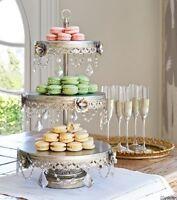 3 Tier Dessert Stand Cupcake Buffet Serving Tray Cake Vintage Look Wedding Fancy