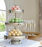 3 Tier Dessert Stand Cupcake Buffet Serving Tray Cake Vintage Look Wedding Fancy