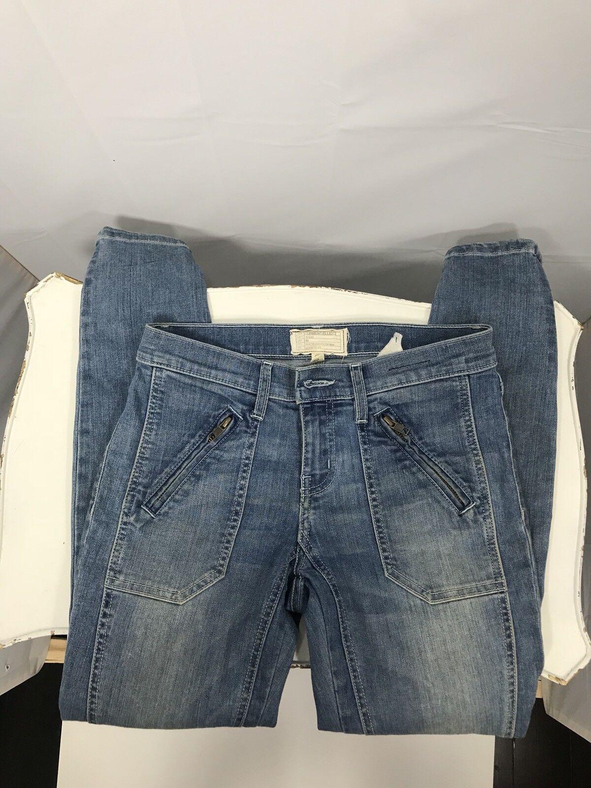 Current Elliott Jeans Womens Size 25 The Moto Stiletto Skinny Apache Wash