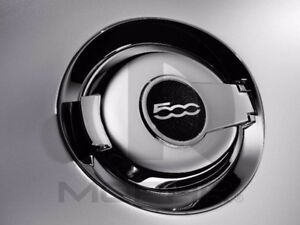 12-17 Fiat 500 New Chrome Fuel Filler Door with 500 Logo Mopar Factory Oem