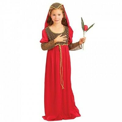 Girls Juliet Tudor Medieval Princess Renaissance Fancy Dress Costume Kids Outfit