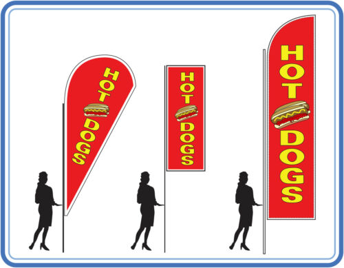 Hot dog flags , great for takeaways Hot dogs food Flags Banners UK 2
