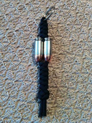 9 MM ou 45 Auto Bullet Beadz DOUBLE BARILLET Keychain fabriqué à partir de Remington Hornady
