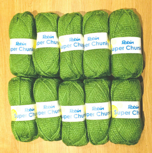 Cinco 100g Ball Robin Super Grueso Suave Hilo De Lana De Tejer Crochet Lima Nuevo Apple