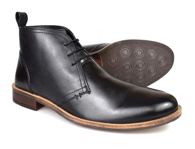 Catesby Mens Black Leather Desert Boots MSC1714 UK 7-12 Free UK P&P!