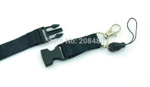 Brand New Plain Black Colour Lanyard Keychain Document ID Badge Holder