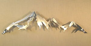 Image Is Loading Mountain Range Cascade Mountains Metal Wall Art Home