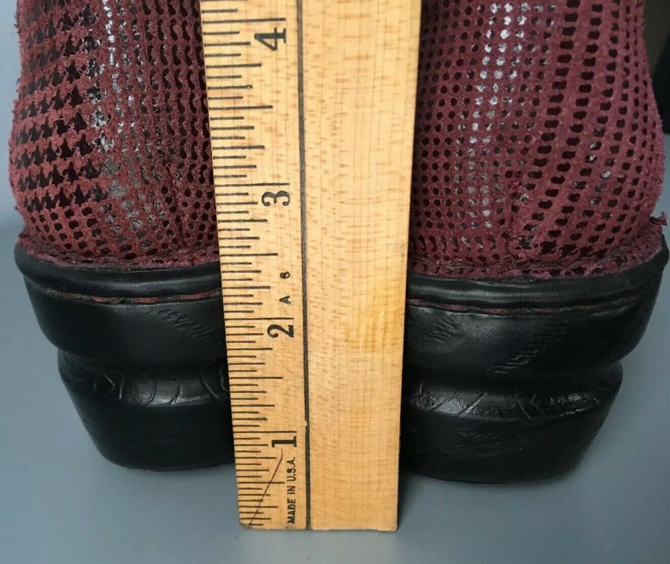 BOC 9 40.5 Peggy Peggy Peggy Clog Red Black Leather Burgundy Deep Born Plaid Pattern NWOT 4e537f