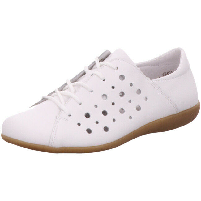 Remonte Soft Womens shoes Lace-Up Lace Up Loafer R3800-80 White Leather