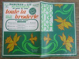 ANCIEN ALBUM TOUTE LA BRODERIE PARURES DE LIT ALPHABETS POINT DE CROIX C9MFw8lu-08022146-872544622