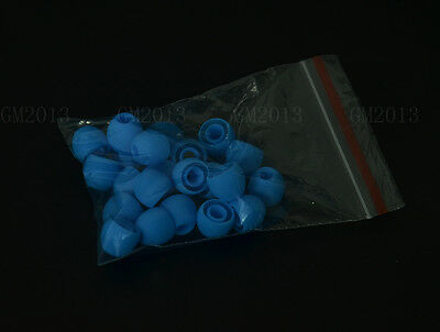 20x Blue Ear tips buds earbud replacement for all beats tour sony headphones R-S