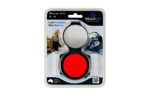 RearViz Slim Line SL-15 Bicycle Rotatable Safety Mirror for Cyclists