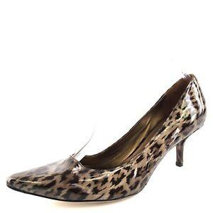 3f628982272f New Via Spiga Carola Leopard Print Leather Pointy Toe Pumps Womens ...