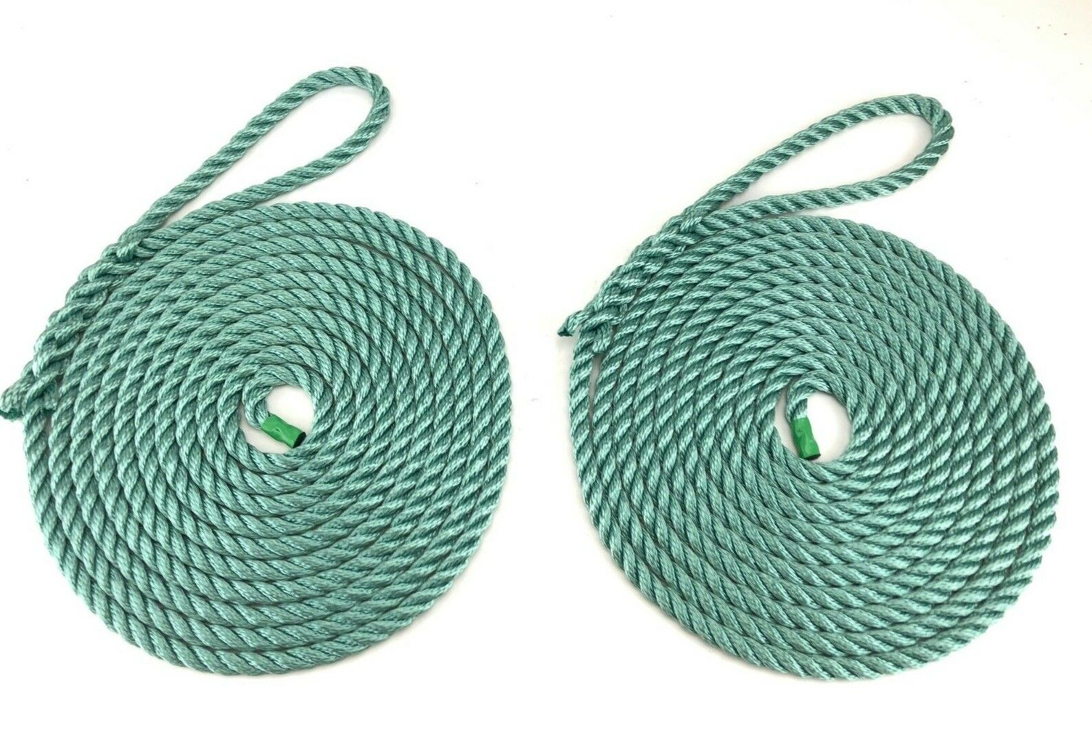 2 x 5 Metres of 12mm Teal Mooring Ropes. Warps, Boat Lines, Yachts, Canal