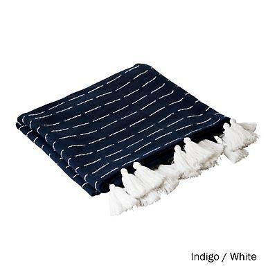 Ashton Cotton Sofa Bed Tassel Throw Rug Blanket 125 x 150 cm by J.elliot