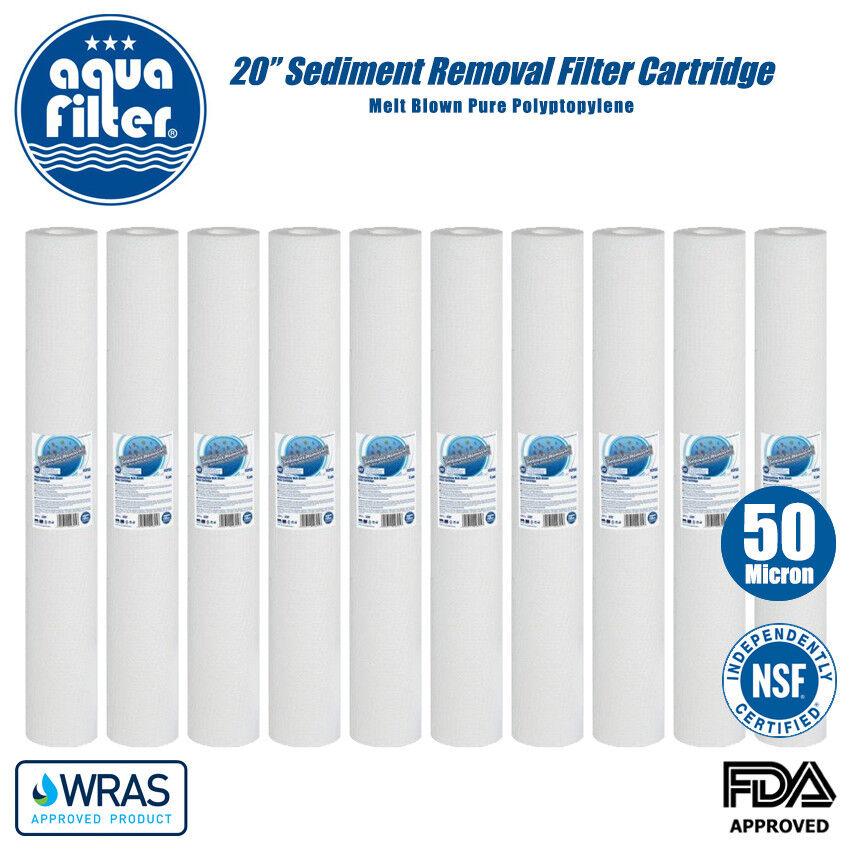 Aquafilter 20   Reverse Osmosis 50 Microns Pp Sédiment Enlever Filtre à Eau X 10