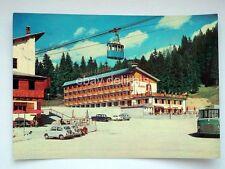 VALBRUNA Hotel Lussari BUS Autobus funivia Udine vecchia cartolina
