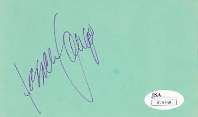 Jessica Lange Signed 3x5 Index Card Jsa V26768 Fine Craftsmanship Cards & Papers Movies