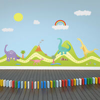 Home Forest Happy Dinosaurs Mural Decoration Arts Wall Stickers 180cm X 120cm