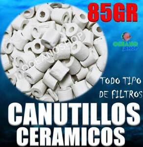 CANUTILLOS 85GR CERAMICOS CERAMICA ACUARIO FILTRO INTERIOR MOCHILA BACTERIAS