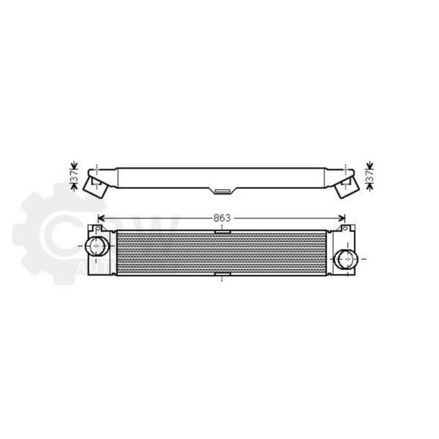 Ladeluftkühler Fiat Ducato Pritsche/Fahrgestell 250_ 290_ 250 Bus Kasten