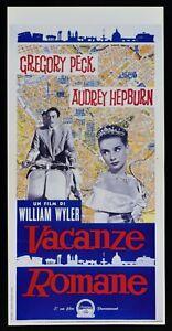 Plakat-Vermietungen-Romane-Audrey-Hepburn-Gregory-Peck-Piaggio-Vespa-Kino-L37
