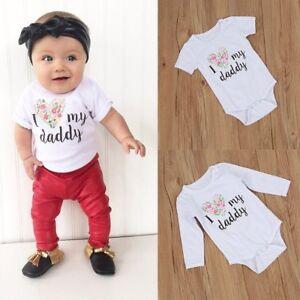 Newborn Infant Baby Boy Girl Quote Romper Jumpsuit Bodysuit Kids