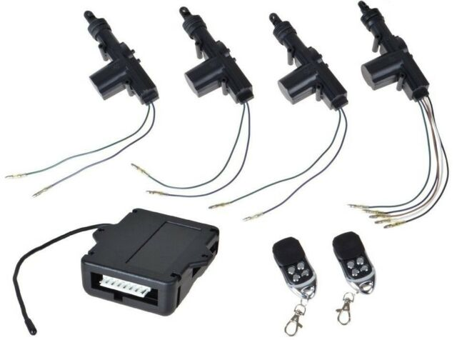 4 Door Power Central Lock Kit Car Remote Control Conversion W/ 2 Keyless Entry
