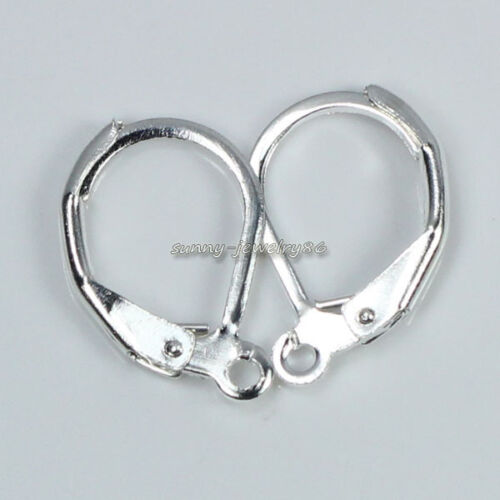 Wholesale 50pcs Silver Plated French Earring Hooks Jewelry Findings,Pick Style