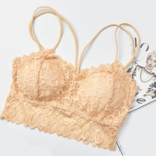 Ladies Girls Lace Women Strap Padded Underwear Camisoles Chest Shirt Tops
