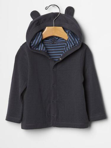 Baby Gap Boy Double-Knit Bear Hoodie French Navy New With Tags