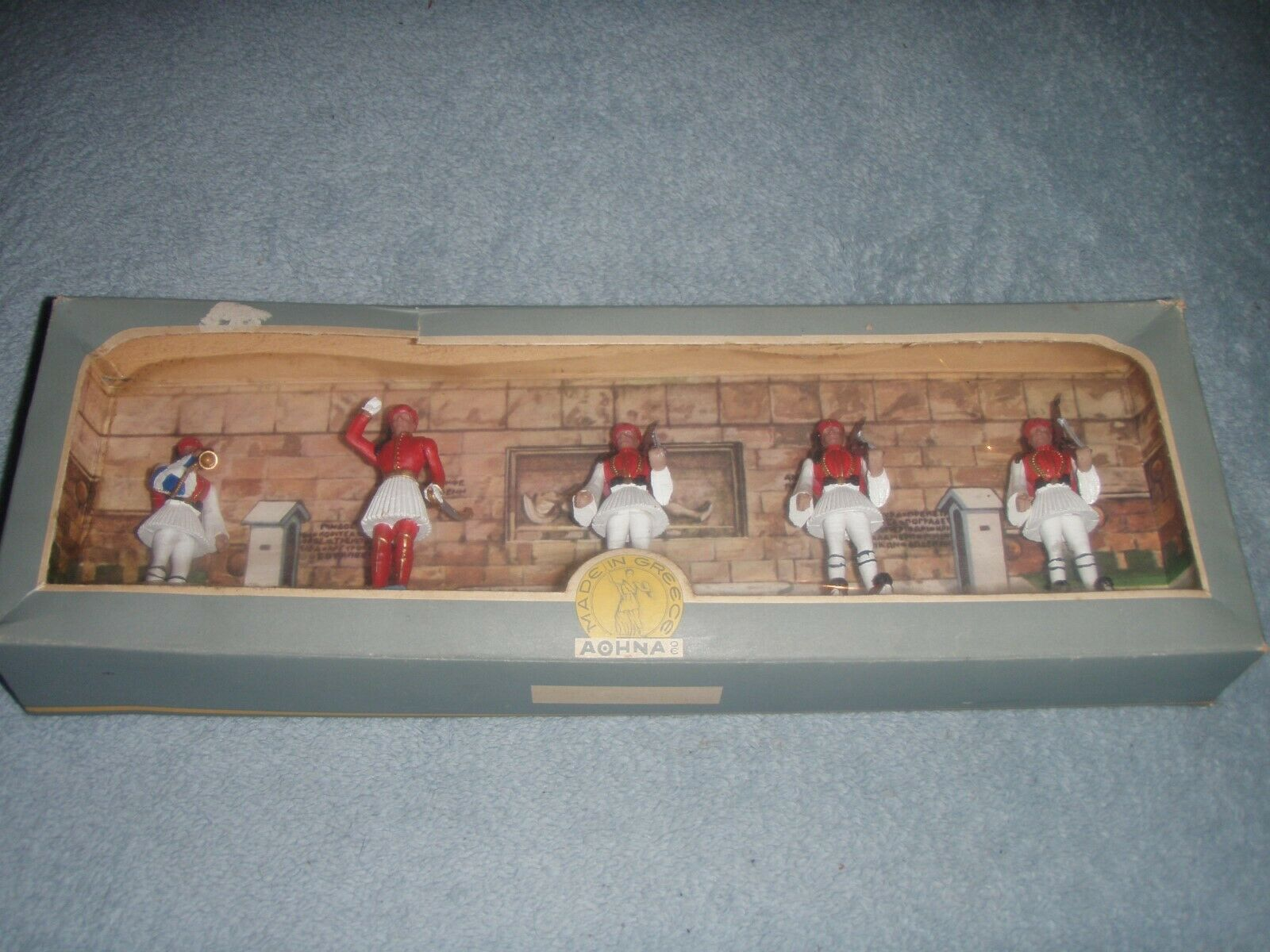 Rare New Vintage 1960's Aohna Boxed Set Made in Greece plastic Soldiers