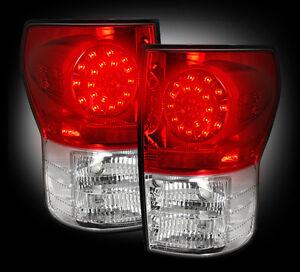 2007-13-Toyota-Tundra-Rear-Brake-amp-Reverse-Red-Taillights-w-Brake-LED-Bulbs