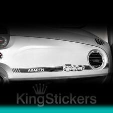 Adesivo FIAT 500 sticker ABARTH effetto CARBON LOOK 3D plancia cruscotto mod. 2