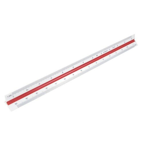 Plastic Red Yellow Green Triangular Scale Ruler 1:100 1:200 1:250 1:300 B3O1 2X