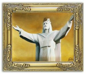 Religion-Jesus-Christ-Handmade-Oil-Painting-Picture-Oil-Frame-Pictures-G06183