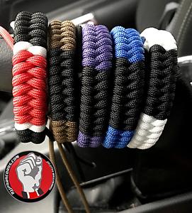 Brazilian Jiu Jitsu Ranked Paracord Bracelet Free Shipping