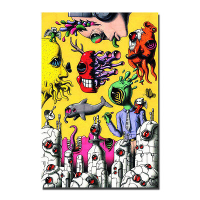 Joker Psychedelic Trippy Poster Fabric wall room decor custom12x18 24x36in A-202