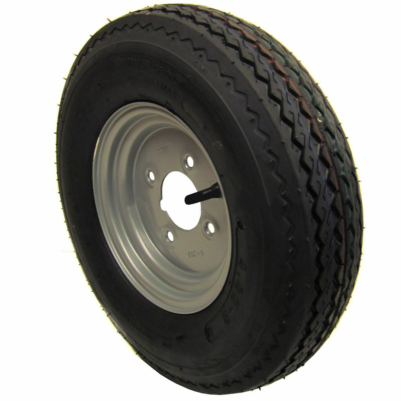 4 PCD Trailer Wheel and 4.00 4.80-8  6 PLY Tyre TRSP02
