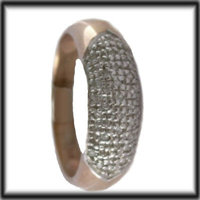 9ct GOLD REAL DIAMONDS band Ring size Q DR4640 jewellery company