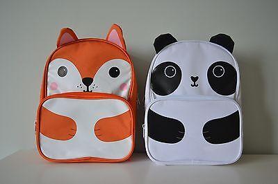 Backpack Kawaii Fox Cat Panda Childrens Kids School Bag Cute Animal Sass /& Belle
