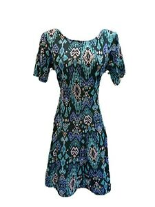 MONSOON-NORDIC-PRINT-FINE-KNIT-STRETCH-FIT-amp-FLARE-SKATER-DRESS-UK-12