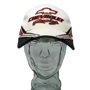 Chevrolet-Racing-Baseball-Cap-Hat-Cotton-Embroidered-White-Black-OSFM-Strap-Back