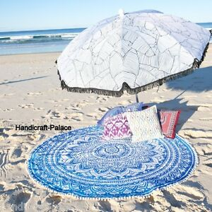 Indian-Ombre-Mandala-Beach-Roundie-Yoga-Mat-Wall-Hanging-Table-Cover-Tapestries