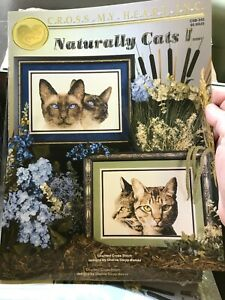Cross My Heart Cross Stitch CSB-245 Naturally Cats I Pattern Book Rare