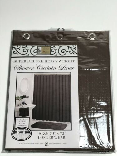 Super Deluxe Heavy Duty  Vinyl Shower Curtain Liners Assorted Colors