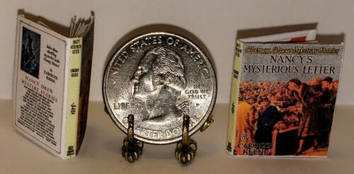 1:12 SCALE MINIATURE BOOK NANCY'S MYSTERIOUS LETTER NANCY DREW ILLUSTRATED